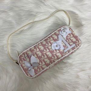 authentic vintage Dior pink trotter shoulder bag